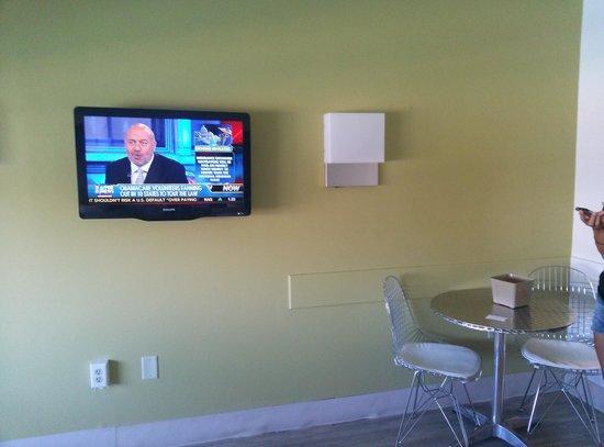 Beach House Dewey: large digital television