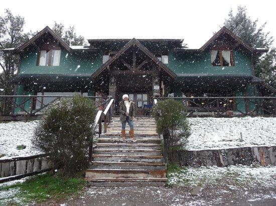 Hostel La Angostura: el hostel nevado