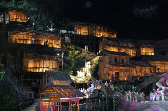 Tianmen Fox Fairy Show: Outdoor Stage Setting