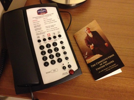 SpringHill Suites Wenatchee: Free copy of the constitution