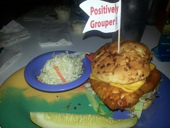 Frenchy's South Beach Cafe : grouper sandwich