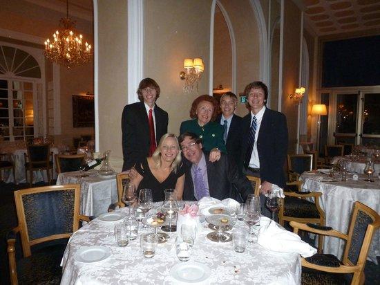 Hotel Splendide Royal: elegant family dinner in La Veranda Restaurant