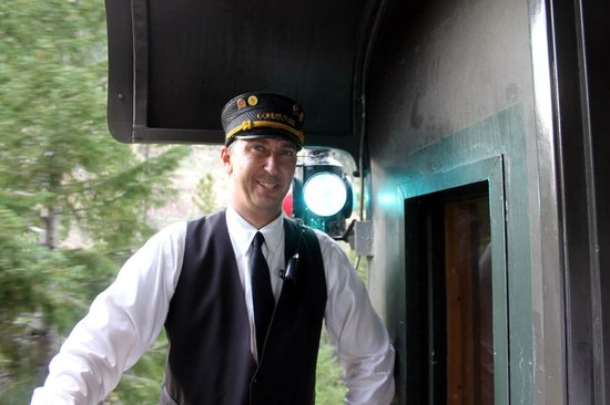 Georgetown Loop Historic Railroad: The conductor  could answer any question about the railroad.