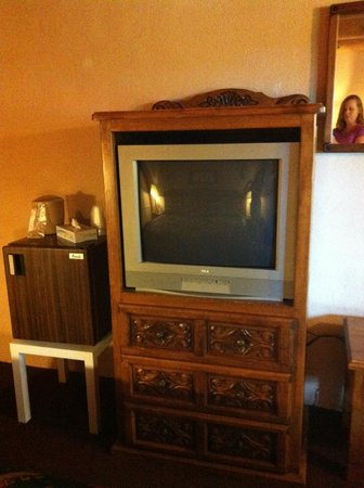 Room included a TV, fridge and coffee maker