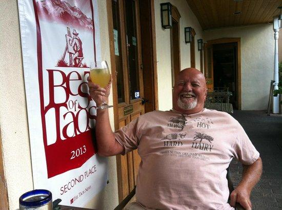 Antonio's TheTaste of Mexico : Happy Husband toasting Taos