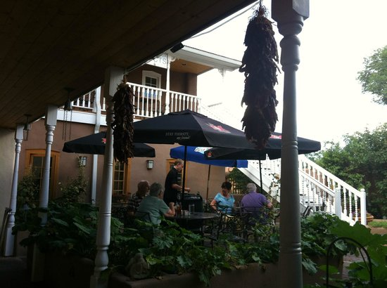 Antonio's A Taste of Mexico: View from covered portion of patio