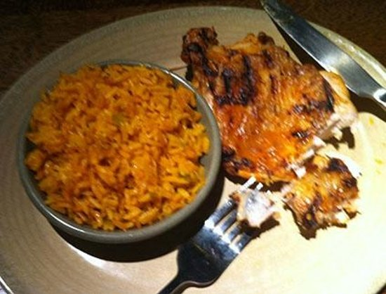 Nando's: Overpriced chicken and rice.