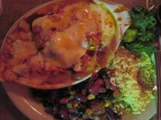Moab Brewery: Chicken and cheese enchiladas