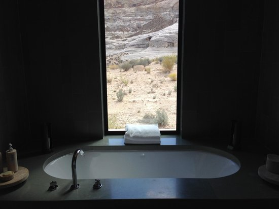 Amangiri: View from the tub