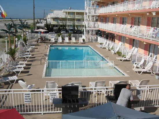 Madrid Oceanfront Condominiums: 2nd floor pool view