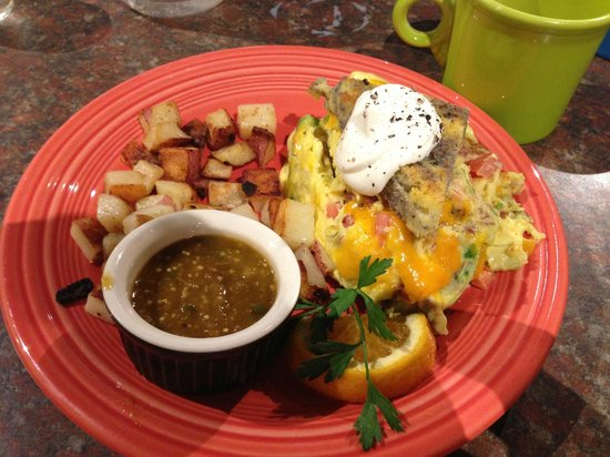 Morning Star Cafe: Marbled cornbread scramble