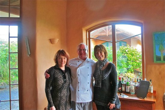 Earthsong Lodge: Carol and Trevor Rendle with my very happy partner