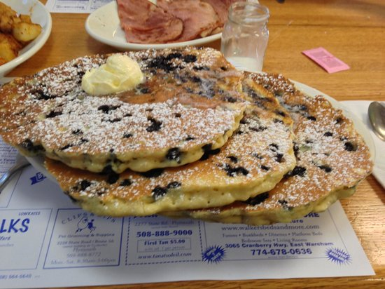 Blueberry Muffin: MASSIVE BLUEBERRY PANCAKES