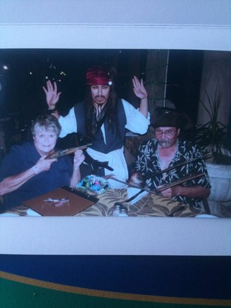 "Marina Fiesta Resort & Spa: ""Jack Sparrow"" with my husband & me at Jack's Bar & Grill"