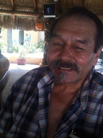 Marina Fiesta Resort & Spa: A very happy guest, Palapa Bar