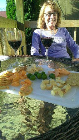 Sunset Condominiums: A little wine and cheese to watch the sun set