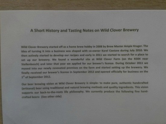 Wild Clover Farm : beer history