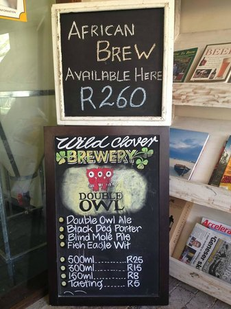 Wild Clover Farm: the beers on offer