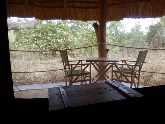 Ndarakwai Ranch Camp: From inside the tent towards the porch
