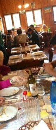 Rifugio Prarayer: la sala da pranzo