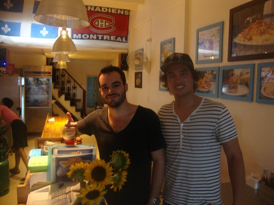 Snack Bar Bkk: The owner on the left & me