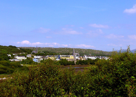 Mallmore Country House: View of Clifden from the Bishop's Bench