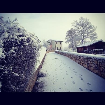Castello Di Pupaggi: when it snows