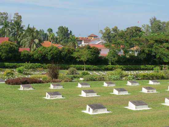 Labuan War Cemetery: Tiara in the background