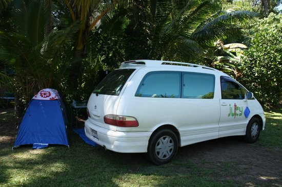 Cape Tribulation Camping: If you want privacy and have a small van who wants power, ask for spot G!