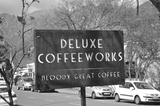 Deluxe Coffeworks : look for this sign!