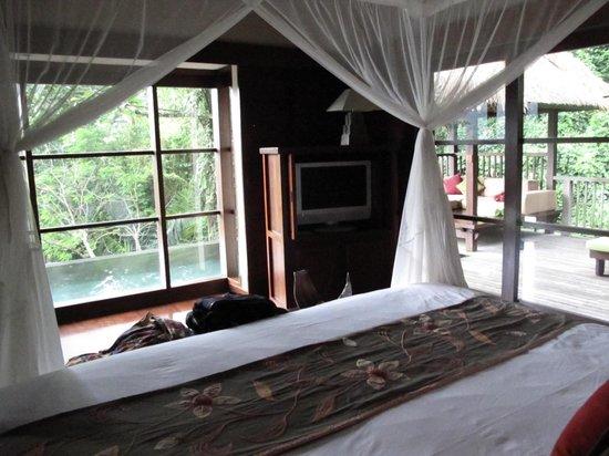 Hanging Gardens of Bali : Vue de notre terrasse et notre piscine privée