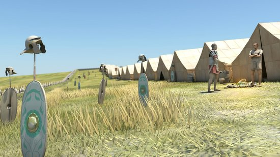 Trecastle, UK: Reconstruction of Y Pigwn marching camp