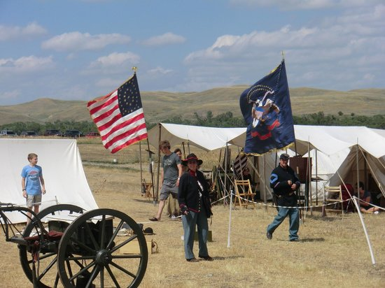 Fort Phil Kearny State Historic Site: Zeltstadt am Gelände des ehemaligen Forts