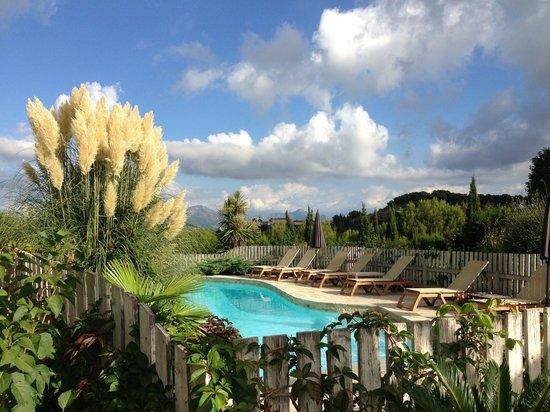 Hôtel Eze Hermitage: Jardin/Piscine, paradisiaque !