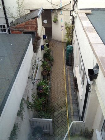 View from bedroom - alley way entrance - was able to park car outside the main gate