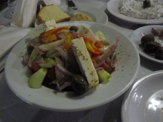 Avli: Greek salad & tzatziki