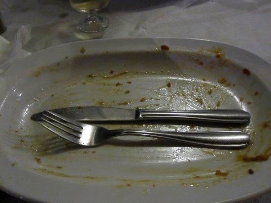 Avli: Empty plate!!