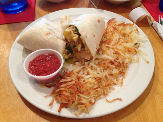 Palmetto Bay Sun Rise Cafe: Breakfast burrito With hashbrowns