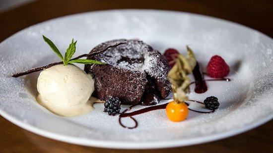 The Old Swan: Warm chocolate fondant