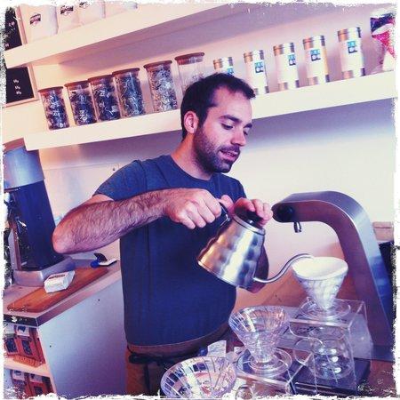 Electric Coffee Co: Elias on the brew bar