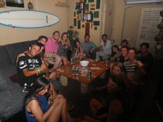 The Drunken Monkey Hostel: in the lounge area