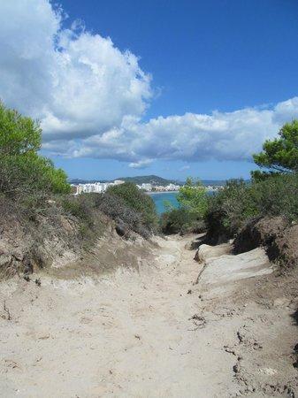 Punta Amer: towards the beach