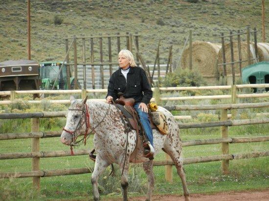 Laramie River Dude Ranch: Rider at LRR