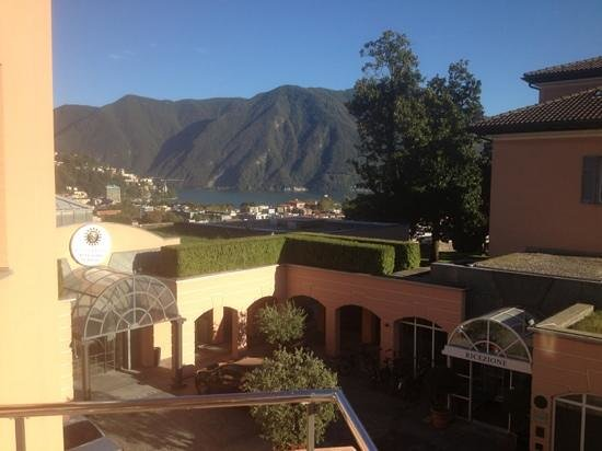 Villa Sassa Hotel, Residence & Spa : Aussicht aus unserem Zimmer