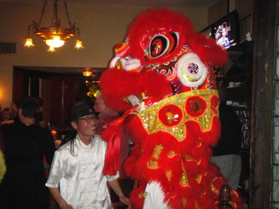 Chu's Taiwanese Kitchen and Bar: Chu and the Dragon celebrating New Years