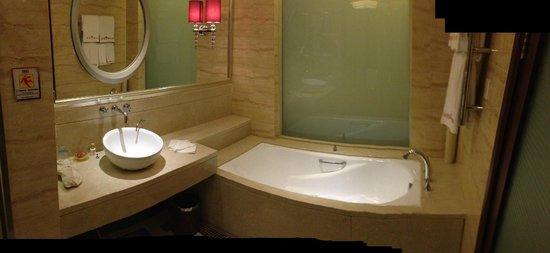 Goodview Hotel Tangxia: Parte del Bagno in camera