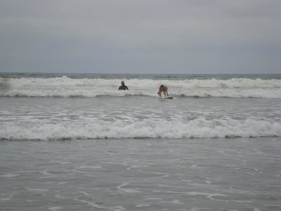 Viejamar Hostel: En clases de surf