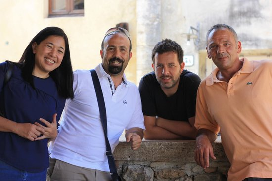 Just in Tuscany  Day Tours: Gayle, Manuele & the men behind Il Loggiato