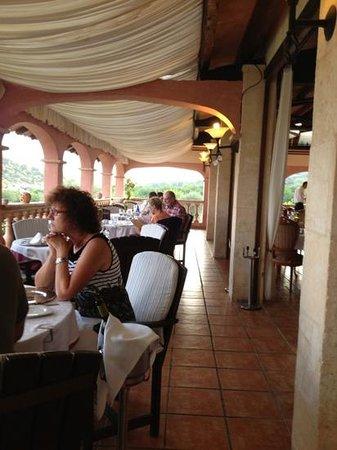 Hotel Rural & Spa Monnaber Nou: Restaurant mit traumhaften Ausblick