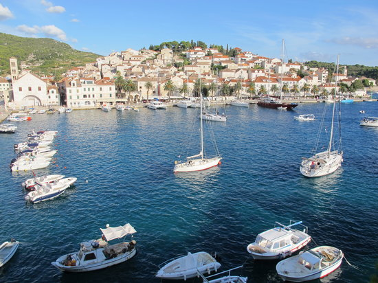 Adriana, hvar spa hotel: View from our window